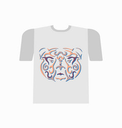 Tribal bear tshirt mockup vector