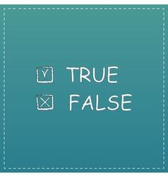True and False icon vector