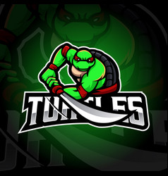 turtle mascot vector image