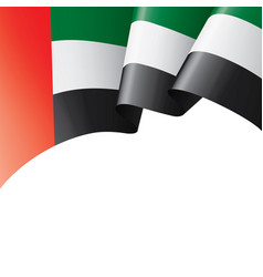 United arab emirates flag on vector