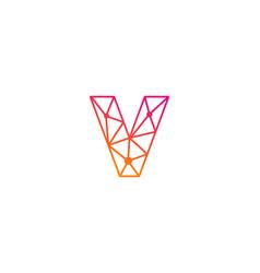 V letter network logo icon design vector