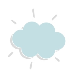 Weather cloud isolated flag icon vector image