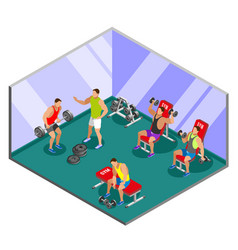 Weight lifting training isometric composition vector