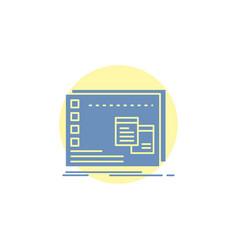 Window mac operational os program glyph icon vector