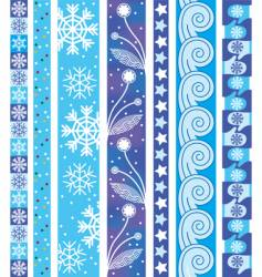 winter design border vector image