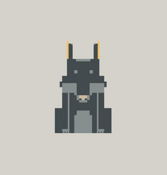 Wolf pixel graphic vector
