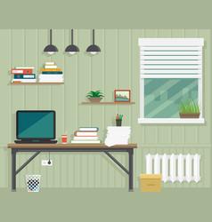 Work room interior vector