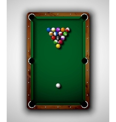 Billiard table vector image vector image