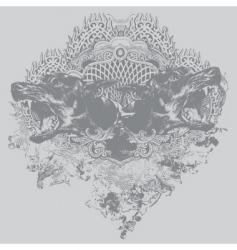 doberman crest illustration vector image vector image