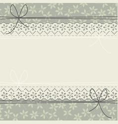 elegant lace frame with stylish plants vector image vector image