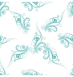 seamless pattern with abstract floral element vector image