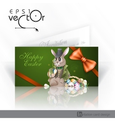 The Easter Bunny With A Basket vector image vector image
