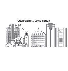 California long beach architecture line skylin vector
