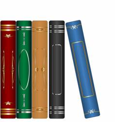 classic books set vector image