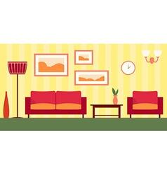 color interior of cartoon living room EPS 1 vector image