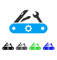 swiss knife flat icon vector image