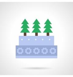 Xmas cake flat color icon vector image vector image