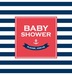 baby shower join us vector image vector image