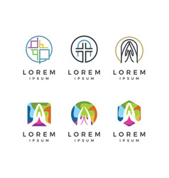 church logo collection vector image vector image