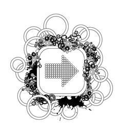 halftone background design vector image vector image