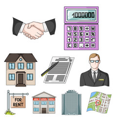 real estate agency and other attributes realtor vector image vector image