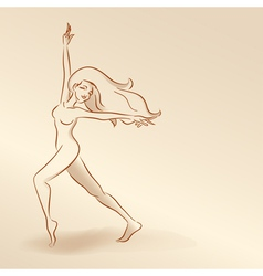 Silhouettes of woman in pastel tones2 5nov vector image vector image