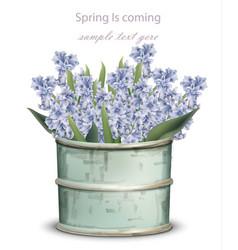 Vintage lavender bouquet spring vector