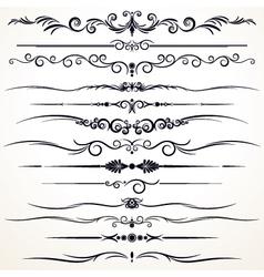 Vintage rule lines vector