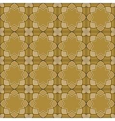 Gorgeous Seamless Arabic Tile Pattern Design vector image vector image