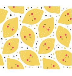 lemon pattern vector image vector image