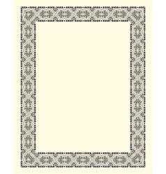ornamental frame vintage vector image vector image