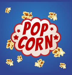 pop corn sign logo vintage poster vector image