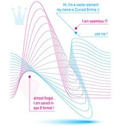 3D motif dynamic lines background vector