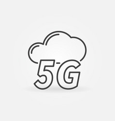 5g cloud concept icon in thin line style vector image