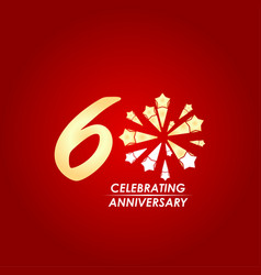 60 year celebrating anniversary template design vector