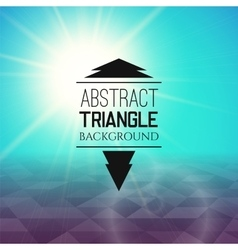 Abstract cyan sunset with violet triangle field vector