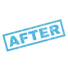 After rubber stamp vector