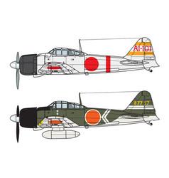 Aircraft color scheme vector