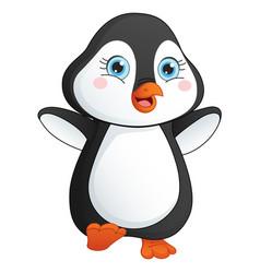baby penguin vector image
