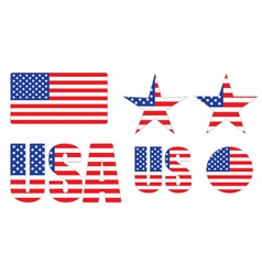 Badges made of United States flag vector