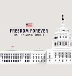banner with us capitol building in washington dc vector image