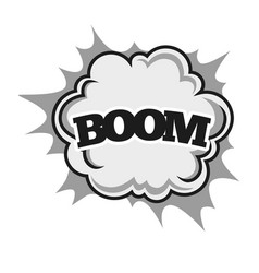 big boom with powerful sparkle and dust clouds vector image