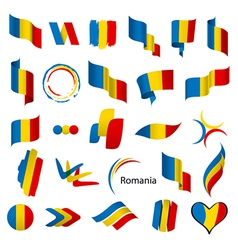 biggest collection of flags of Romania vector image