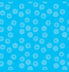Blue bacteria seamless pattern vector
