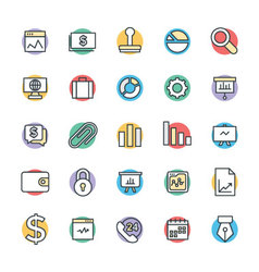 Business Cool Icons 1 vector image