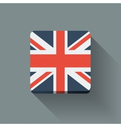 button with flag uk vector image