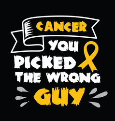 cancer quote and saying set vector image