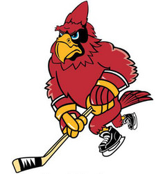 Cardinal hockey sports logo mascot vector