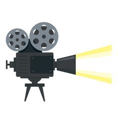 cinema camera reel icon flat style vector image