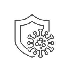 coronavirus protection thin line icon vector image